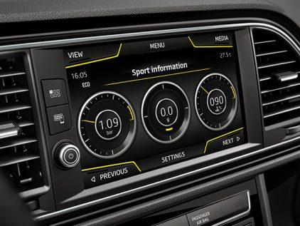 Sport HMI de la nouvelle SEAT Leon CUPRA